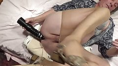 transvestite shemale anal dildo nylon lingerie sissy 213