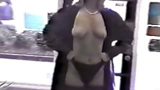 Trina flashes guy inside public convenience store