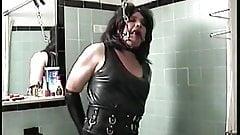 Little Miss Christi Shower Stall Bondage