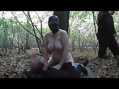 Slut Wife gangbang in forest Part2