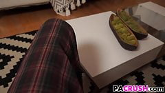 Sweety Paris Cummings Gets A Lesson By Stepdad's Thumb