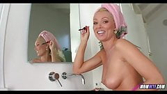 Amazing Blonde MILF gets ready