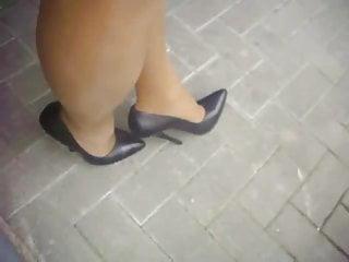 Black Extrem Leather High Heels Pumps