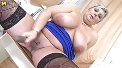 Grandma with big boobs and hungry vagina