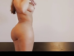 Hot bubblebutt pawg stripping naked in the bedroom