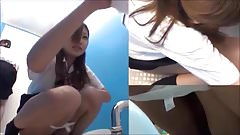 Japanese girls on toilet cam