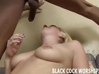 His huge ebony cock is going to tear my ass up