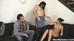 His GF seduced by his mom and dad