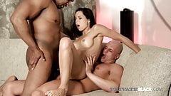 PrivateBlack - Latina Ferrera Gomez DP'd By B&W Cocks!