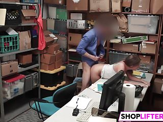 Shoplifter Brooke Bliss Gets Fucked By The LP Officer