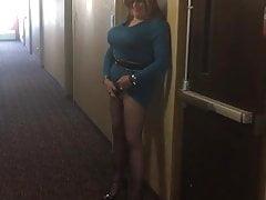 Slutty shameless hotel sissy