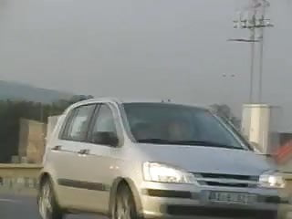 Couple Fuck On A Walway Over The Highway