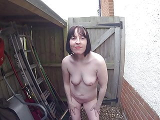 Outdoors Flashing Coat In The Yard