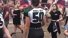 Dutch pawg slut goes wild on festival