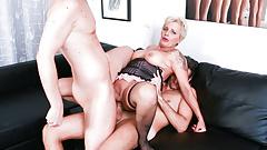 LETSDOEIT - DP Mature Lover Getting Fucked By 2 Big Cocks