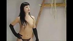 Sexy girl naked spanking