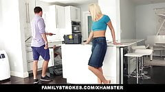 FamilyStrokes - it`s very HOT  Teen Fucks Her Step-Cousin In Kitchen