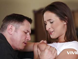Teen slut gets an awesome workout with her stepdad