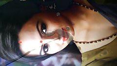 Sexy Sana Khan facial cumshot