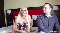 Skinny German Teen Tight-Tini in Real Big Dick Fan-Date