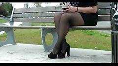 Sexy BBW Public Legs