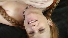 preggo redhead with real big boobs
