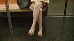 MILF legs on train 2