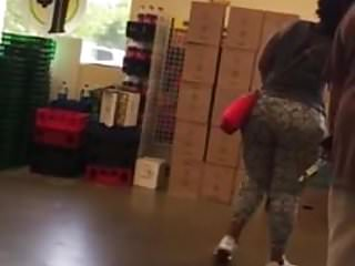 Big Booty Black Woman At Store