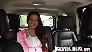 Mofos - Stranded Teens - Petite Latina Gives a Good Blowjob