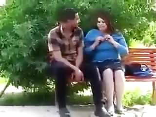 Iraqi girl with boyfriend Play with his penis Zoraa Park