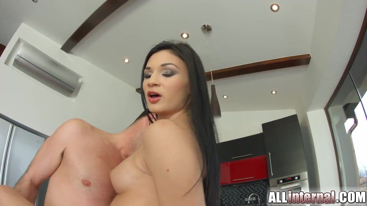Allinternal sexy babe drips cum out of her pussy