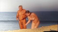 Candid 09 - Nice tits, nude beach couple - w slow mo