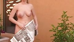 Alison naked in public, busted !