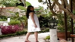 Pretty Taiwanese - undresses in her garden