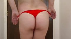 Sofia, fucking argentina, in red thong