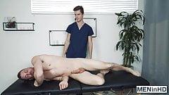 Muscular jock got way more than just a regular massage