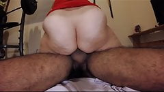 Cumming on his dick
