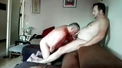Slamming older daddy in the ass