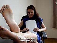 Hot office foot worship - CzechSoles.com teaser