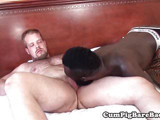 Preview 1 of White bear barebacking black jock