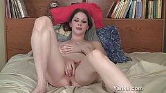 Sexy Brunette Belle Fingering Her Pussy