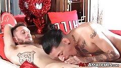 Inked alt stud sucking and riding boyfriends hard cock