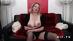 BBW French milf with huge boobs double teamed