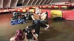 British slut Michelle gets fucked at the go-kart track