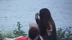 Chubby 20yr old Girlfriend Fucking at the Lake