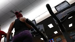 Juicy Pawg working out in Purp leggings part1