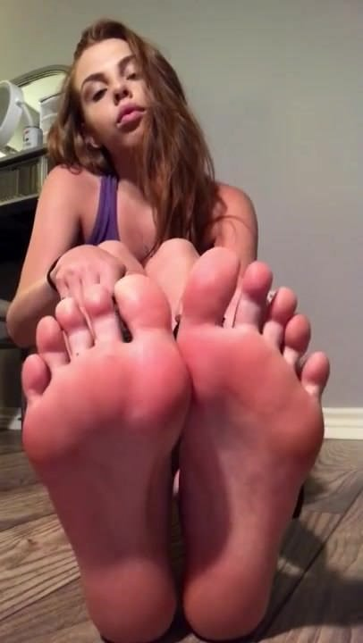 Licking Feet Alone at Home