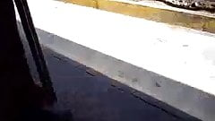 GROPED ENCOXADA ASS IN BUS STOP