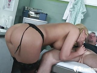 Hottie in stockings gets plowed in various positions.mp4