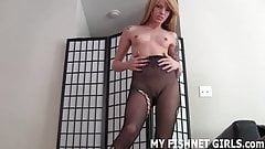 Jerk your cock to me in my sexy fishnets JOI